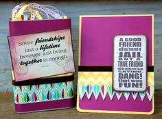 Scissors, Spatulas, and Sneakers:  Friendship Gift Ensemble using Quick Quotes Happiness Collection