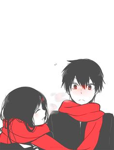 Ayano Tateyama and Shintaro Kisaragi Mekaku City Actors/Kagerou Project