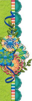 Scrapbooking TammyTags -- TT - Designer - 4 My Babies Scraps,  TT - Item - Border, TT - Style - Cluster