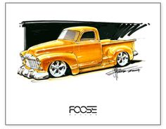 Chip Foose Antique Truck Drawing