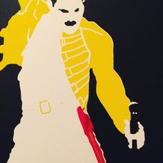 """""""Wembley"""" available on Artfinder """"a kind of magic"""" available only on www.fled.club. Make up your mind before it's too late! #print #screenprinting #screenprint #art #popart #freddiemercury #queen #rock #band #music"""