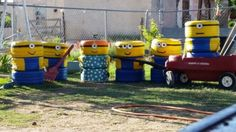 More Recycled Scrap Tire Minions