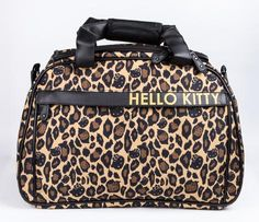 Hello Kitty Overnight Bag: Leopard