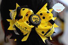 Lavish Loops Iowa Hawkeye Bow https://www.etsy.com/listing/163504479/black-and-yellow-loopy-bow-iowa-hawkeyes?ref=listing-shop-header-4