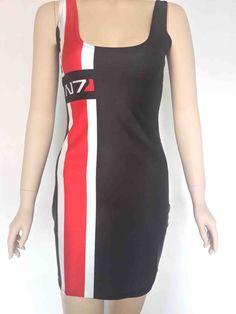 Mass Effect N7 Women's Dress Digital Textile Print One Size