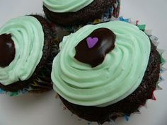 Chocolate Mint Cupcakes (Dairy free, nut free, vegan)