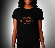 Hermes Paris Women Black Shirt XS S M L XL Rare by CahyaAbadi, $23.50