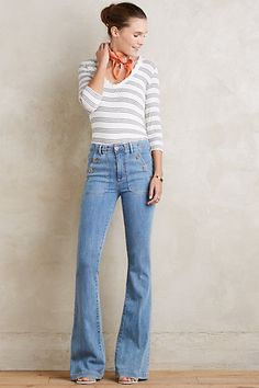 Paige Bell Canyon High Rise Jeans - I'm crazy for those buttons (but I'd have to wear some seriously chunky shoes with the inseam they make)
