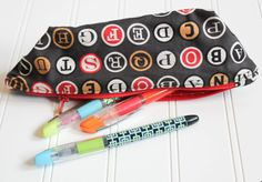 Pencil cases for writers, readers and book lovers: Vintage typewriter key pencil case on Etsy