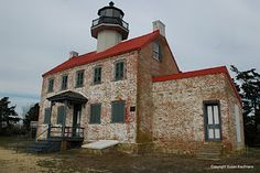 East Point Lighthouse located at the mouth of the Maurice River in Heislerville (Cumberland County), NJ. <3
