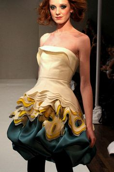 Leanne Marshall from Project Runway. I would definitely wear this to an awards show. Very cute!