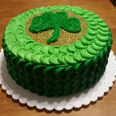 St. Patrick's Day petal cake