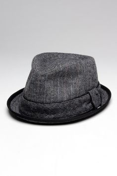 d405d33881e6e Herringbone Trilby Contrast Piping Hat Mens Gloves