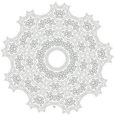 Printable mandala coloring pages. Complex kaleidoscopic coloring sheets for older kids, adults and artists, part of a collection of free adult coloring pages and patterns for coloring and artistic design. Free Adult Coloring Pages, Mandala Coloring Pages, Coloring Book Pages, Printable Coloring Pages, Coloring Sheets, Colouring, Art Nouveau, To Color, Mandala Design