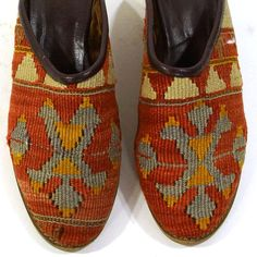 Kilim Shoes / Vintage 1990s Slip on Carpet Loafers / Women's Size 7 $68.00
