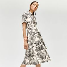 Warehouse, Jungle Print Shirt Dress Multi 1