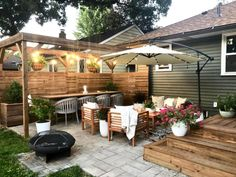 Eyesore to Outdoor Oasis: Backyard Patio Reveal - Sima Spaces Outdoor Decor, Backyard Design, Patio Remodel, Small Backyard, Patio Design, Backyard Furniture, Building A Pergola