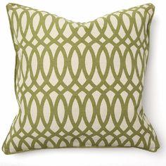 Geo Print Green Throw Pillow
