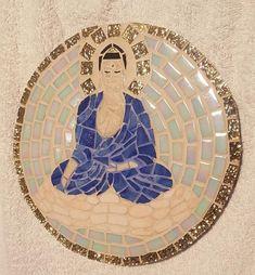 Tableau Bouddha mosaique nacré et brillant