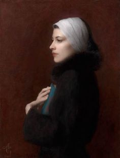 """the poet"" oil by Adrian Gottlieb 26 x 20"". Model me Lacy Soto."