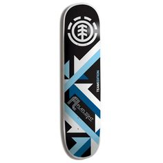 This is a really neat design for a skateboard. I really like the abstract pattern that they used for the lower half of the design. The color scheme works very well and the shading just polishes it off. The placement of the logo at the top fits right in with the rest of the design.