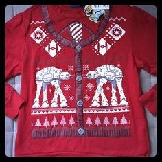I just discovered this while shopping on Poshmark: Nwt  STAR WARS ugly Christmas holiday sweater LNWT. Check it out! Price: $25 Size: L, listed by byenglin4114