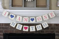 This I am One Me Too banner would be perfect for a smash cake picture or a photo prop for a first birthday for twins. Each square measures 4x4