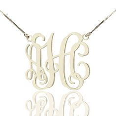This exquisite Sterling Silver Personalized Monogram Necklace  is fully personalized with any initials! This is one of the hottest personalized jewelry items trending today. Alexis Bellino get her Monogram Initial Necklace Silver, which made us all swooned. Now you can have a monogram necklace! A personalized monogram necklace is an excellent and artistic way to showcase your individuality with intricate initials! Alexis Bellino have one Monogram Initial Necklace