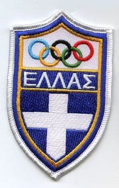 ATHENS 2004 OLYMPIC COLLECTIONS: GREEK GREECE OLYMPIC TEAM LOGO PATCH #Greece
