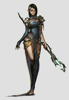 Female Elf Sorcerer - Pathfinder PFRPG DND D&D d20 fantasy