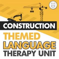This themed language therapy unit includes a wide variety of materials and resources for your students with language goals using a fun and relatable CONSTRUCTION theme! Targets core vocabulary, basic concepts, describing, tier 2 vocabulary, affixes, and more! Your students will love these speech therapy activities. Receptive Language, Speech And Language, Speech Therapy Activities, Language Activities, Figurative Language Activity, Construction Theme, Vocabulary Building, Core, Students