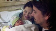 "Arleen and I with Forrest Glenn ""Little Hawk"" Greene, who was born January 18, 2011"