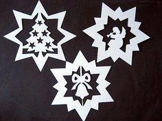 """Fensterbild filigran Tonkarton  """" 3 Sterne """" Weihnachten • EUR 2,50"""