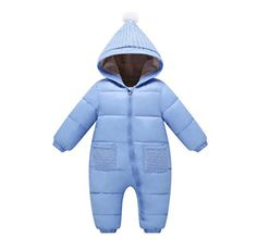fcf5905cbf84 Baby Rompers Winter Baby Boy Snowsuit Romper Toddler Cotton One-piece Suit  Infant Warm Hoody Jumpsuit Coverall For Newborn