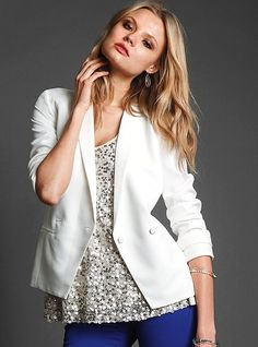 white Double-breasted Blazer