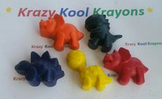 Krazy kool dinosaur krayons are kool krayons for kool kids. These make great gifts and party favors and are sure to make any kool kid smile.