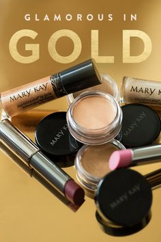 Look glamorous in gold with a gorgeous summer makeup look inspired by the games! Top it off with a pink lip for day or a plum lip for night. | Mary Kay