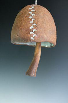 Mushroom bell. Sea Salt half moon ceramic wind chime by Chelsea Mae