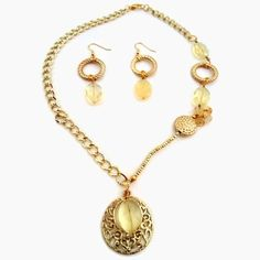 Yellow Necklace Easter Mother's Day Gift Gold Chain by cdjali, $15.00