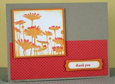 Thank You Card by CardsByAbbie on Etsy, $3.25.  Such bright colors!