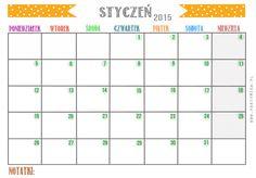 Gratis! Kalendarz na rok 2015 do druku! - STYCZEŃ