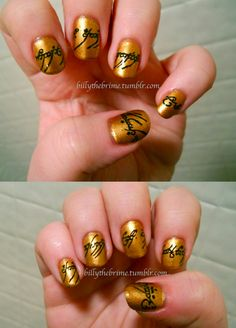One Nail Polish to Rule them All #lordoftherings #nailart