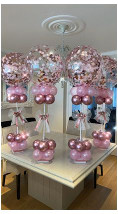 Deco Baby Shower, Baby Girl Shower Themes, Girl Baby Shower Decorations, Baby Shower Balloons, Baby Shower Girl Centerpieces, Baby Showers, Balloon Arrangements, Balloon Centerpieces, Birthday Balloon Decorations