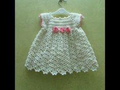 فستان كروشيه اطفال.الجزء الاول -Dress Crochet - YouTube