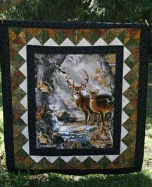 deer in the window panel quilt made by Heathr MK OWLBEESEWIN ... : quilt patterns with panels - Adamdwight.com