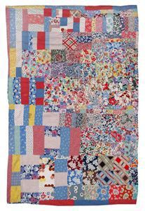 Unknown American Maker, Alabama Crib Quilt (Strips, Bars and Blocks) ca. 1945 Cotton 59 1/4 in. x 40 in. Gift of Kempf Hogan believed to have been made in Tuscaloosa mid-20th century... exemplifies improvisation by incorporating strips, bars and squares to create a unified whole. The quilt is double-sided, so that a pattern shows even when the quilt is folded back upon the crib.