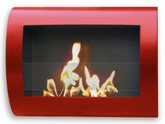 Wall Mount Indoor Fireplace - Red
