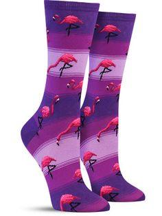In Kelly Green! Flamingos Socks