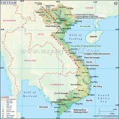 Map of Vietnam - http://travelquaz.com/map-of-vietnam.html