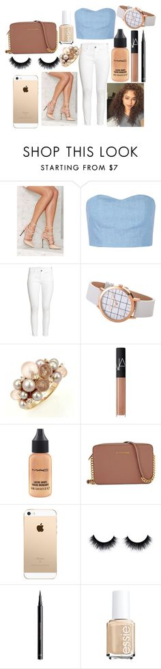 """Untitled #174"" by the-fashion-fantasy ❤ liked on Polyvore featuring Privileged, Julien David, H&M, Mimí, NARS Cosmetics, MAC Cosmetics, Michael Kors and Essie"